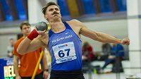 Adam Sebastian Helcelet při letošním halovém mistrovství republiky.