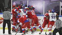 V utkání s Ruskem na Švédských hrách došlo i k několika potyčkám.