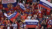 Fanoušci hokejistů Ruska během MS.