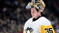 Tristan Jarry v minulé sezoně nakoukl i do NHL. V dresu Pittsburghu Penguins odchytal 26 zápasů.