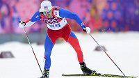 Český běžec na lyžích Aleš Razým na olympiádě v Soči.