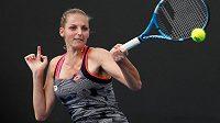 Kristýna Plíšková v utkání 2. kola Australian Open v Melbourne.