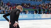 Ruský krasobruslař Jevgenij Pljuščenko opouští led kvůli problémům se zády.