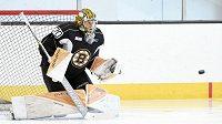 Český hokejový brankář Daniel Vladař opustil kemp Bostonu a zamířil do Providence do nižší AHL.