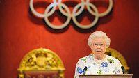 Britská královna Alžběta II. popřála mnoho štěstí všem účastníkům LOH v Londýně.