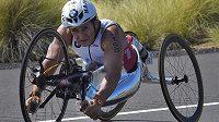 Paralympijský šampion Alex Zanardi při Ironmanovi na Havaji.