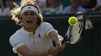 Alexander Zverev během Wimbledonu.