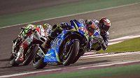 Španěl Alex Rins při GP Kataru.