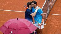 Utkání bylo pro Davida Ferrera i Rafaela Nadala dojemné.