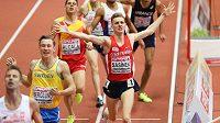 Radost Filipa Sasínka z bronzu na halovém mistrovství Evropy v Bělehradě.