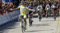 Slovenský cyklista Peter Sagan v cíli etapy.