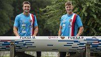 Bratři Petr a Martin Fuksovi, kteří se spolu kvalifikovali na olympijské hry v Tokiu.
