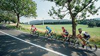 Na trati třetí etapy Czech Cycling Tour z Mohelnice do Šternberka.