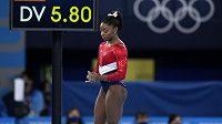 Simone Bilesová, největší hvězda gymnastiky, kterou na OH v Tokiu sužují psychické problémy.