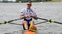 Skifař Ondřej Synek získal na mistrovství Evropy ve veslování v Poznani stříbrnou medaili.