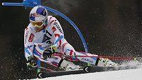 Francouzský lyžař Alexis Pinturault při závodě v rakouském Hinterstoderu.