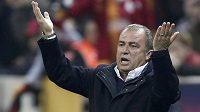 Fatih Terim, impulzivní kouč fotbalistů Galatasaraye Istanbul.