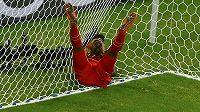 Zklamaný belgický útočník Divock Origi po neproměněné šanci v zápase s USA.