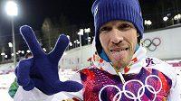 Jaroslav Soukup slaví bronzovou medaili.