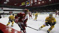 Hokejisté Slavie přivítali Litvínov v pražském Edenu
