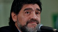 Diego Maradona na tiskové konferenci