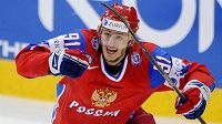 Oleg Saprykin v dresu ruské hokejové reprezentace.