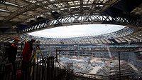 Na moskevském stadiónu Lužniky hořelo.