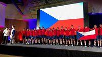 Čeští reprezentanti na šampionátu středních škol.