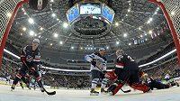 Minsk arena v hlavním běloruském městě bude o víkendu hostitelem bojů o medaile.