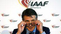 Předseda IAAF Sebastian Coe.