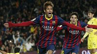 Neymar byl v duelu s Villarrealem hrdinou Barcelony.