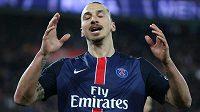 Švédský útočník Zlatan Ibrahimovic v dresu Paris St. Germain.