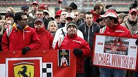 Fanoušci Ferrari se sešli na oblíbeném okruhu Michaela Schumachera ve Spa-Francorchamps