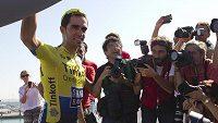 Španěl Alberto Contador během Vuelty.