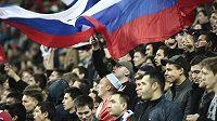 Ruští fotbaloví fanoušci - ilustrační foto.