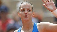 Karolína Plíšková slaví postup do třetího kola French Open.