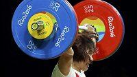 Číňanka Siang Jen-mej ovládla soutěž vzpěraček do 69 kg.