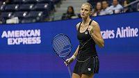 Karolína Plíšková v utkání druhého kola US Open.