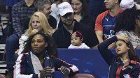 Sereně Williamsové fandila při Fed Cupu i její dcerka Alexis Olympie.