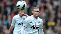 Wayne Rooney v dresu Manchesteru United.