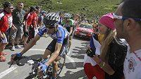 Český cyklista Leopold König během 16. etapy Tour de France s cílem v Bagneres-de-Luchon.