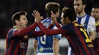 Messi slavil svůj gól s Neymarem, v San Sebastianu ale Barcelona padla.