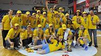 Basketbalistky ZVVZ USK Praha získaly potřetí za sebou mistrovský titul.