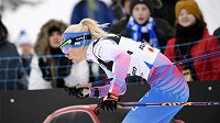 Finka Mari Laukkanenová v kvalifikaci sprintu na MS.