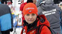 Irena Česneková, bývalá biatlonistka, nyní fyzioterapeutka reprezentace.