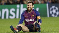 Barcelonský Lionel Messi při utkání s Tottenhamem.