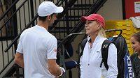 Nečekaného poradce měl srbský tenista Novak Djokovič v podobě legendární Martiny Navrátilové.