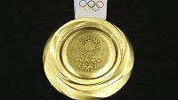 Zlatá mediale pro olympijské vítěze v Tokiu na LOH 2020.