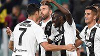 Juventus Turín slaví branku do sítě Boloni