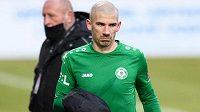 Pro zraněného Jana Rezka z Příbrami skončil zápas s Plzní už v sedmé minutě.